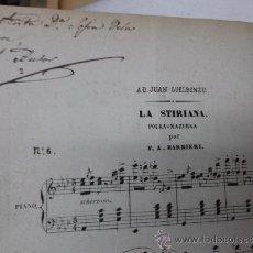 Partituras musicales - ALBUM PARTITURAS MTRO: BARBIERI: LA STIRIANA (1848) CON AUTOGRAFO, JOSE INZENGA, ARRIAGA... - 35468731