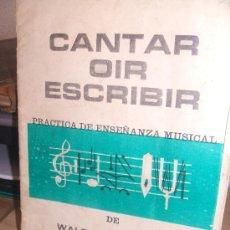 Partituras musicales: PRACTICA DE ENSEÑANZA MUSICAL DE WALTER KOLNEDER LIBRO PRIMERO. Lote 35727719