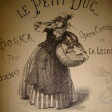 Partituras musicales: LE PETIT DUC ARBAN, MAGDALENA GOTTSCHALK, LLUVIA DE ESTRELLAS TALEXI, RAPSODIA LISZT, LEER. Lote 35774538