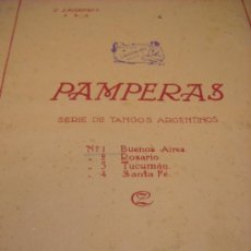 Partiture musicali: PARTITURA PIANO. C. ZACIRTSKY: PAMPERAS SERIE DE TANGOS ARGENTINOS. Nº 1 BUENOS AIRES. OP. 85. 1919.. Lote 35893491