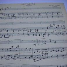 Partituras musicales: PARTITURA MANUSCRITA. MIGUEL BENOIS: GUAJIRA. 1939, 2 HOJAS.. Lote 35902021