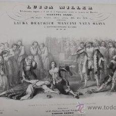 Partituras musicales: PARTITURA VERDI LUISA MILLER, OPERA COMPLETE PIANO FORTE SOLO, CA. 1849, MILANO, RICORDI,. Lote 36227047