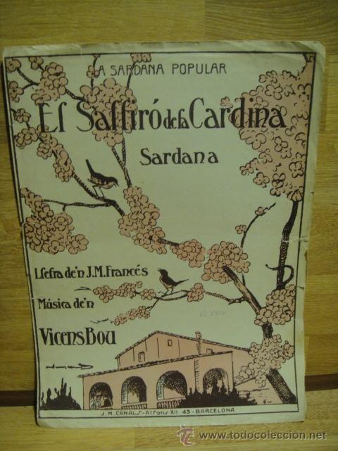 EL SALFIRO DE LA CARDINA - SARDANA MUSICA DE VICENS BOU (Música - Partituras Musicales Antiguas)