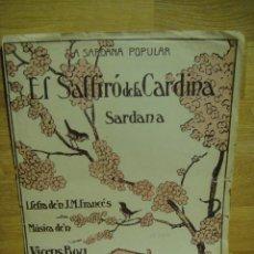Partituras musicales: EL SALFIRO DE LA CARDINA - SARDANA MUSICA DE VICENS BOU. Lote 36258405