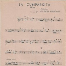 Partituras musicales: == S23 - PARTITURA - LA CUMPARSITA ( TANGO ) VIOLIN 1º. Lote 109264660