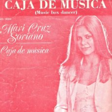 Partituras musicales: MARI CRUZ SORIANO - CAJA DE MÚSICA (MUSIC BOX DANCER) PARTITURA 1974. Lote 36608383