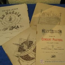Partituras musicales: LOTE DE CUATRO PARTITURAS , TRES DE ELLAS CATALANAS. Lote 36860068