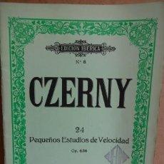 Partituras musicales: CZERNY Nº 8. 24 PEQUEÑOS ESTUDIOS DE VELOCIDAD. OP 636. COMO NUEVO.. Lote 37004653