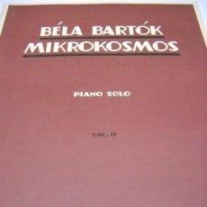 Partituras musicales: PARTITURA. BELA BARTOK: MIKROKOSMOS. PIANO SOLO. VOL. II. PROGRESSIVE PIANO PIECES. BOOSEY & HAWKES. Lote 37047981