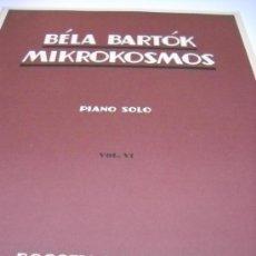 Partituras musicales: PARTITURA. BELA BARTOK: MIKROKOSMOS. PIANO SOLO. VOL. VI. PROGRESSIVE PIANO PIECES. BOOSEY & HAWKES. Lote 37048079