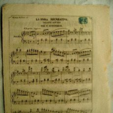 Partituras musicales: LA HORA RECREATIVA - PEQUEÑO ESTUDIO - POR F. GODEFROID - FILARMONICO POPULAR - MUY ANTIGUO. Lote 37353448