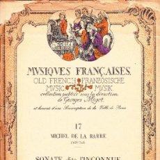Partituras musicales: PARTITURA SONATE DITE L´INCONUE EN SOL MAYOR PARA FLAUTA - AÑO 1952. Lote 37540663