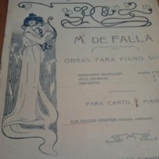 Partituras musicales: PARTITURA ANTIGUA DE 6 PAGINAS PARA CANTO Y PIANO. Lote 37544522