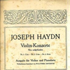 Partituras musicales: HAYDN : VIOLIN KONZERTE - VIOLIN Y PIANO. Lote 37785362