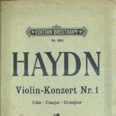 Partituras musicales: HAYDN : VIOLIN KONZERT Nº 1 - VIOLIN Y PIANO. Lote 37785439