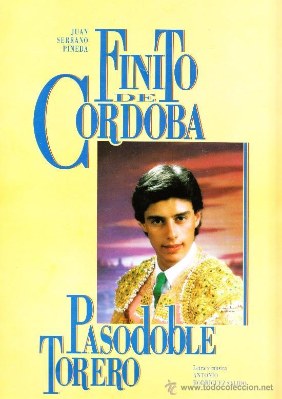 PARTITURA PASADOBLE FINITO DE CÓRDOBA (Música - Partituras Musicales Antiguas)