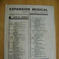 Partituras musicales: ARREGLOS FÁCILES PARA PIANO. JORDÁ, CUENTOS DE HOFFMANN (BARCAROLA). Lote 38212841