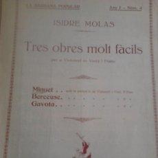 Partituras musicales: MINUET, SARDANA POPULAR. Lote 38173554