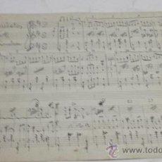 Partituras musicales: PARTITURA MANUSCRITA. MORALEDA: MANOLETIN. SCHOTIS. 2 PAGS.. Lote 38611350