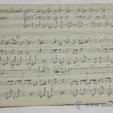 Partituras musicales: PARTITURA MANUSCRITA. MTRO GUERRERO: LASMUJERES DE LACUESTA. PASODOBLE. 2 PAGS.. Lote 38611677