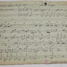 Partituras musicales: PARTITURA MANUSCRITA. MTRO GUERRERO: LAS MUJERES DE LACUESTA. FOX - PASODOBLE. 2 PAGS.. Lote 38611714