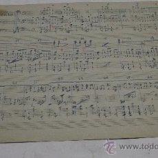 Partiture musicali: PARTITURA MANUSCRITA. CANARO: MADRESELVA. TANGO. 2 PAGS. MANCHA AMARILLA EN ESQUINA. Lote 38624135
