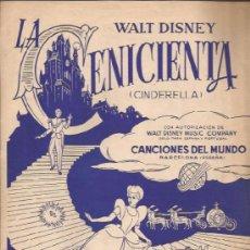 Partituras musicales: PARTITURA-LA CENICIENTA ESTO ES AMOR SO THIS LOVE-WALT DISNEY-CANCIONES DEL MUNDO BARCELONA 1959. Lote 38629768