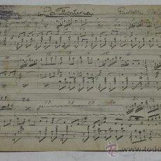 Partituras musicales: PARTITURA MANUSCRITA. MTRO. GUERRERO: LA MONTERIA. PASODOBLE. 2 PAGS.. Lote 38635288