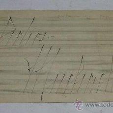 Partituras musicales: PARTITURA MANUSCRITA. JULIO CESAR SANDERS: ADIOS MUCHACHOS. TANGO. 2 PAGS.. Lote 38675850
