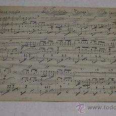 Partituras musicales: PARTITURA MANUSCRITA. MTRO. GUERRERO: LA MONTERIA. TANGO. 1 PAGS.. Lote 38676108