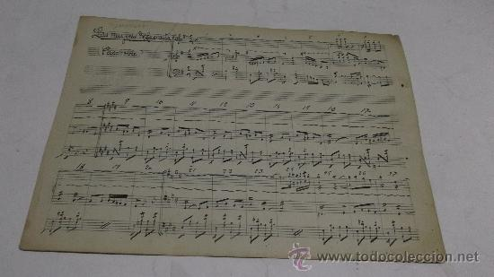 PARTITURA MANUSCRITA. MTRO. GUERRERO: LAS MUJERES DELACUESTA. PASODOBLE. 2 PAGS. (Música - Partituras Musicales Antiguas)