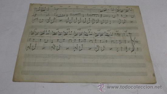 Partituras musicales: PARTITURA MANUSCRITA. MTRO. GUERRERO: LAS MUJERES DELACUESTA. PASODOBLE. 2 PAGS. - Foto 2 - 38676323