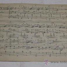 Partituras musicales: PARTITURA MANUSCRITA. MTRO. GUERRERO: EL SOBRE VERDE. SCHOTIS. 2 PAGS.. Lote 38676378