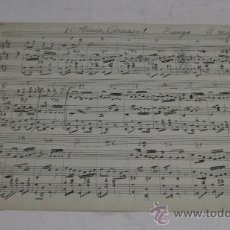 Partiture musicali: PARTITURA MANUSCRITA. E. DELFIN: ¡ARACA CORAZON!. TANGO. 2 PAGS.. Lote 38676453