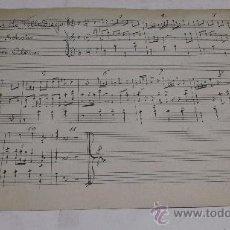 Partituras musicales: PARTITURA MANUSCRITA. MTRO. ALONSO: LAS DE VILLADIEGO. SCHOTIS. Y PASODOBLE. 2 PAGS.. Lote 38676630