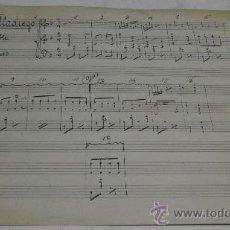 Partituras musicales: PARTITURA MANUSCRITA. MTRO. ALONSO: LAS DE VILLADIEGO. SCHOTIS. Y PASODOBLE. 2 PAGS.. Lote 38676708