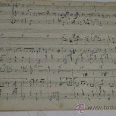 Partituras musicales: PARTITURA MANUSCRITA. MTRO. ALONSO: LA CALESERA. SCHOTIS. 2 PAGS.. Lote 38676805