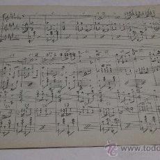 Partituras musicales: PARTITURA MANUSCRITA. FLOREAL. PASO DOBLE. 2 PAGS.. Lote 38676845