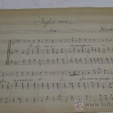 Partituras musicales: PARTITURA MANUSCRITA. HANDEL: 'FIGLIA MIA'. ARIA, 2 HOJAS. Lote 38708939