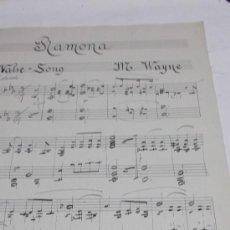 Partituras musicales - PARTITURA MANUSCRITA. M. WAYNE: RAMONA. VALSE - SONG. 3 PAGS. - 38723765