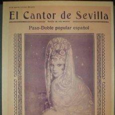 Partituras musicales: DOMENECH, ANDRÉS R: EL CANTOR DE SEVILLA. PASO-DOBLE POPULAR ESPAÑOL (PARTITURA PARA CANTO Y PIANO). Lote 38810333