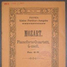 Partituras musicales: QUARTETT NO 1 G-MOLL FÜR PIANOFORTE, VIOLINE, VIOLA UND VIOLONCELL. PAYNE'S KLEINE KAMMERMUSIK-PART. Lote 38840424
