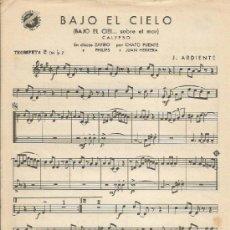 Partituras musicales: *-* PP96 - PARTITURA - BAJO EL CIELO / A PUERTO RICO - TROMPETA 2 SI B. Lote 38932584