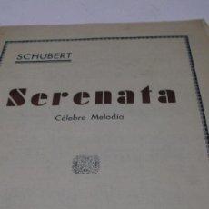 Partituras musicales: PARTITURA PARA PIANO. SCHUBERT: SERENATA. CELEBRE MELODIA. UNION MUSICAL ESPAÑOLA. 2 HOJAS. Lote 38953606
