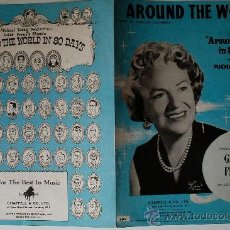 """Partituras musicales: PARTITURA DE """"AROUND THE WORLD"""" GRACIE FIELDS, COLUMBIA RECORDS . Lote 39056328"""