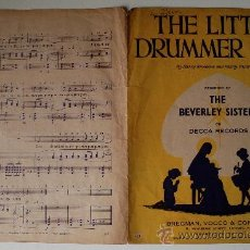 """Partituras musicales: PARTITURA """"THE LITTLE DRUMMER BOY"""" THE BEVERLY SISTERS (DECCA RECORDS) USA . Lote 39056370"""