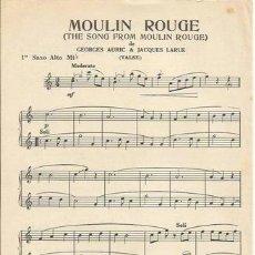 Partituras musicales: *-* PP85 - PARTITURA - MOULIN ROUGE / LOUISA - 1ER SAXO ALTO MI B. Lote 39181232