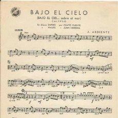 Partituras musicales: *-* PP92 - PARTITURA - BAJO EL CIELO / A PUERTO RICO. Lote 39181245