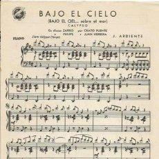 Partituras musicales: *-* PP93 - PARTITURA - BAJO EL CIELO / A PUERTO RICO - PIANO. Lote 39181247