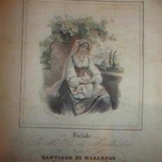 Partituras musicales: PARTITURA DORMI FANCIULLO, MUSICA SANTIAGO DE MASARNAU, LETRA MALHERBE, GRABADO, PARIS CA. 1850. Lote 39388560